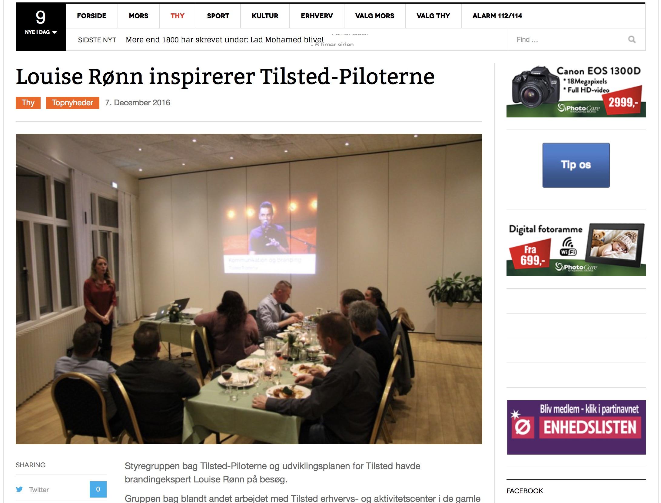 Louise Rønn foredrag Tilsted Piloterne